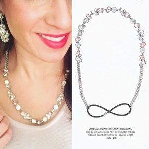 C+I Crystal Strand Statement Headband H007